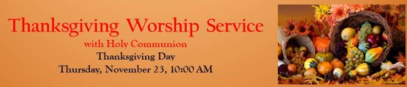 Thanksgiving Day Service