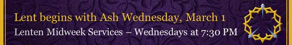 Ash Wednesday / Lent 2017